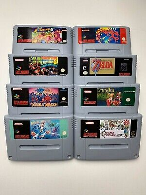 Snes Pal Games Double Dragon Donkey Mega Man X Chrono Trigger Zelda Mana Metroid