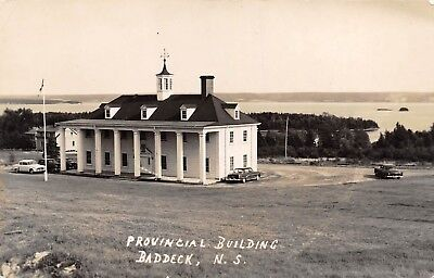 Provincial Building Baddeck Cape Breton Nova Scotia NS 1139 RPPC Real Photo