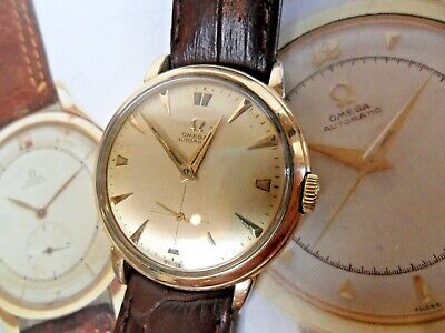 Very Clean Vintage 1953 Men's Omega 14k G/F 17J Jewel Cal. 344 Automatic Watch