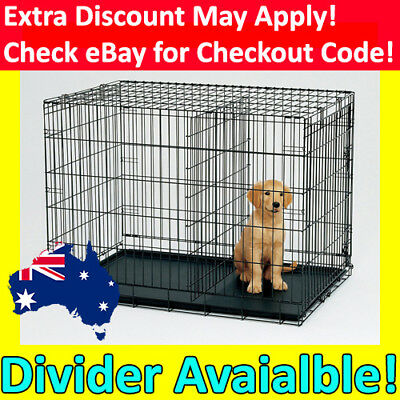 """24"""" 30"""" 36"""" 42"""" 48"""" Dog Pet Cage Kennel Cat Collapsible Metal Crate Tray DIVIDER"""