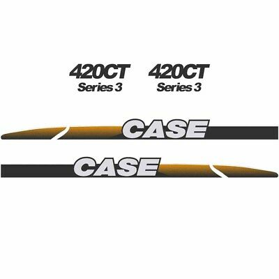 CASE 420CT Decals Stickers Skid loader Repro kit
