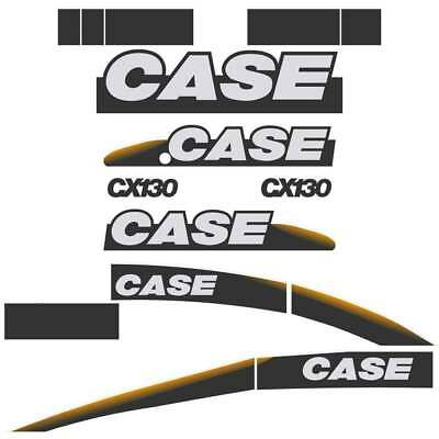 CASE CX130 Decals Stickers Repro kit