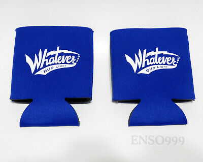 lot of 2 New Bud Light Beer Can Koozie Welcome To Whatever USA Tall Boy Neoprene