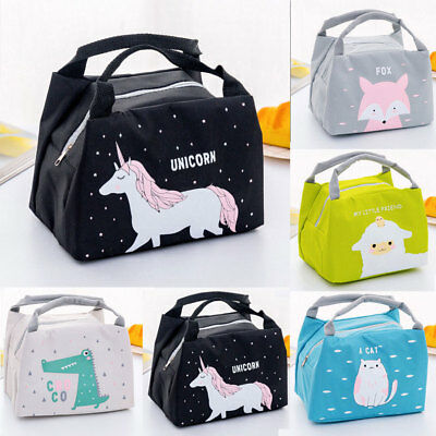 CUTE WOMEN LADIES Girls Kids Portable Insulated Lunch Bag