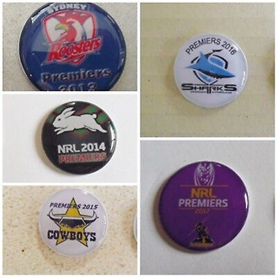 1 ONLY GOLF BALL MARKER FOR THE PREMIERS - 2009 TO 2018 Storm, Dragons, souths