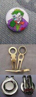 2 Only The Joker Golf Ball Markers - A Quality Divot Tool Plus A Hat Clip