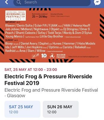 FULL WEEKEND Riverside Electric Frog Tickets