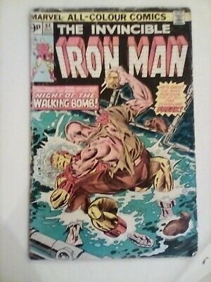 The Invincible Iron Man - #84 Marvel Comics - POOR CONDITION - 1975