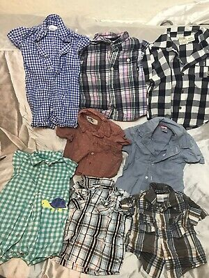 Ralph Lauren Jumpsuit Baby Boy Short Sleeve Button Down Shirts. Set Of 8 Sz3/12M