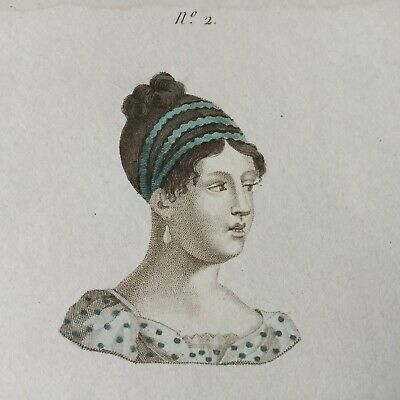 Gravure Ancienne 1er Empire 1813 Portrait Napoleonic Etching Early 19thC