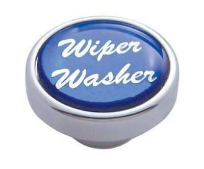 knob wiper washer blue glossy sticker for Peterbilt Kenworth Freightliner
