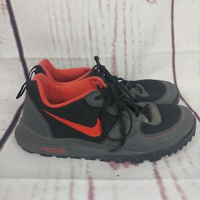 watch 40d71 71ad2 Men s Nike ACG Takos Gray Black Red Low Top Hiking Shoes Size 10
