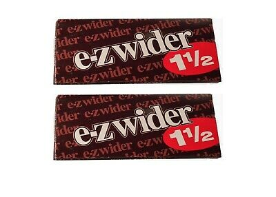 E Z Wider 1.5 Rolling Papers 1 1/2 2 PACKS! *LOWEST PRICE* *USA SELLER*