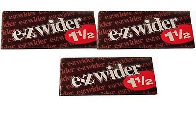 E Z Wider 1.5 Rolling Papers 1 1/2 3 PACKS! *LOWEST PRICE* *USA SELLER*