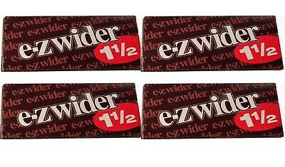 E Z Wider 1.5 Rolling Papers 1 1/2 4 PACKS! *LOWEST PRICE* *USA SELLER*