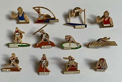 Pins Rare serie complete Decathlon Christian Plaziat Arthus Bertrand Paris
