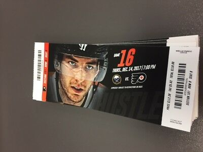 Sanheim 1st NHL Goal - Flyers Sabres MINT Season Ticket 12/14/17 2017 Stub 1