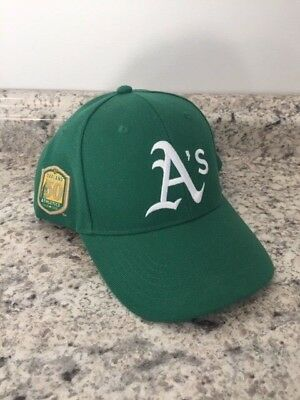 2018 Oakland Athletics 50th Anniversary Replica Hat SGA 6/9 New Kelly Green Cap