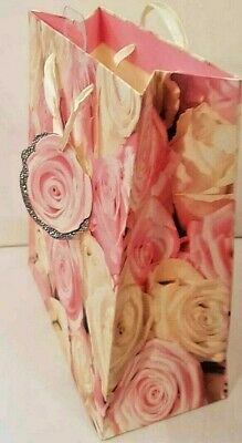 Pink Floral Roses Gift Bags Large,Medium And Small