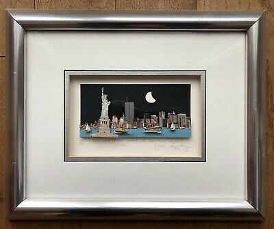 "John Suchy ""The Lady of the Harbor & the Downtown Skyline NYC"", 1997, 3D"