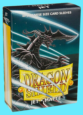60 DRAGON SHIELD JET MATTE JAPANESE Card Sleeves Mini Deck Protector yugioh tcg