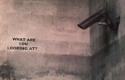 "WHAT ARE YOU LOOKING AT? CCTV BANKSY BANKSEY 7x5"" PICTURE PRINT ART"