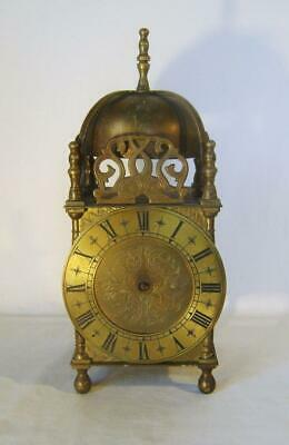 Large 25 cm Brass Lantern Clock English Smiths Electric Movement Spares Repairs
