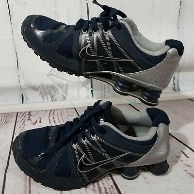 88748e88f98f0c Boys Nike Shox Agent Size 7Y Blue Black Silver Sneakers Athletic Shoes