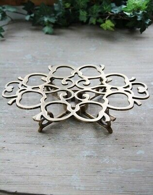 NEW Brass trivet stand with votive 23cm long - REDUCED TO SELL