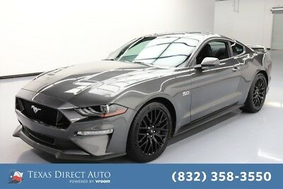 2018 Ford Mustang GT 2dr Fastback Texas Direct Auto 2018 GT 2dr Fastback Used 5L V8 32V Manual RWD Coupe Premium