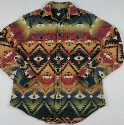 cf3ad7a24 Vintage Polo Ralph Lauren Navajo Blanket Shirt Rare Country Indian Aztec  Serape