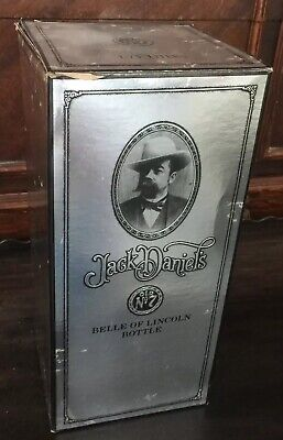 Vintage Jack Daniels Belle Of Lincoln Etched Glass Whiskey Decanter BOX ONLY