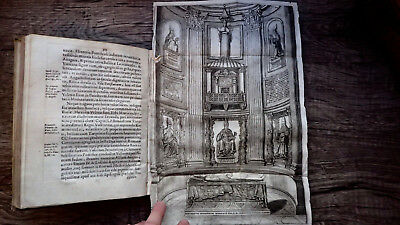 Printed 1651 Knights Templar Boniface Pope Viii-Clément Vellum  Coat Of Arms