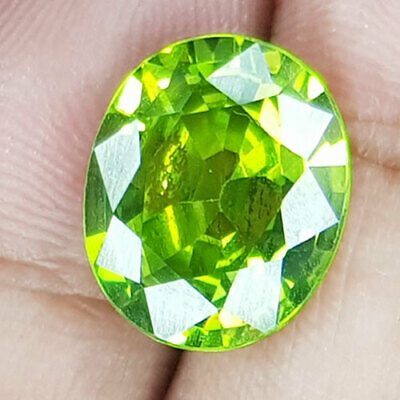 13.77 Cts Uncomparable Best Luster Vivid Apple Green Natural Peridot