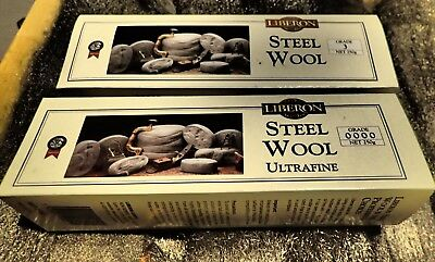 Liberon Steel Wire Wool NEW Top Quality  Grades 4,3,2,1,0,00,0000 x 1 m or .5m
