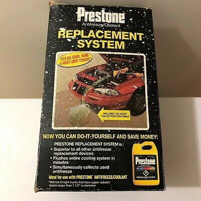 New Prestone Anti-Freeze/coolant Replacement System Fastflush No Mess Af-1500Can