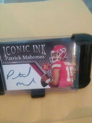 Patrick Mahomes11  Autographed Iconic Ink Rookie