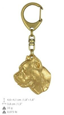 Cane Corso Golden Plated Key Ring Solid Keychain UK 776