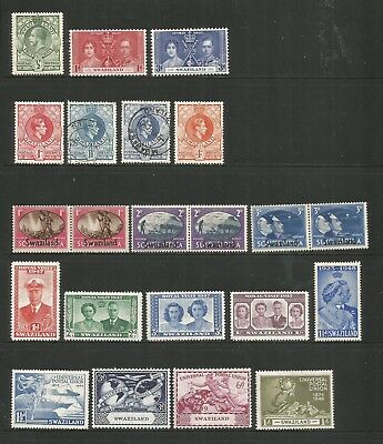 Swaziland – 1933-1976 - Collection Of 69 Different Stamps - Mint/used