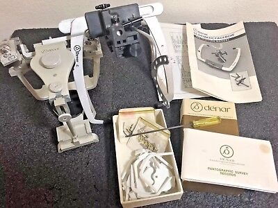 Denar Dental Lab Adjustable Articulator With Wrench, Facebow & Other Accessories