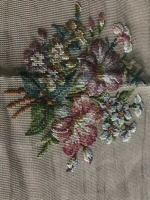 """Bucilla Omported Hand Embroidered Needlepoint Starter  23"""" By 23"""""""