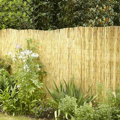 4M Natural Fence Panel Peeled Reed Fencing Screening Roll Screen Garden