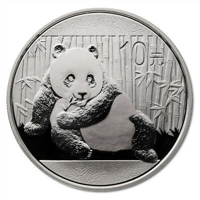 2015 China Silver Panda 1 Oz. .999 Fine Silver Coin  10 Yuan  ~~~ Frosty ~~~