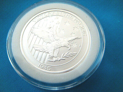 2016 1/2 oz. Australia-VICTORY IN THE PACIFIC-SILVER ROUND.9999 FINE BU