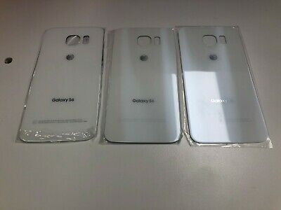 Original Samsung Galaxy S6 G920A Battery Cover Glass Housing Back Door White A