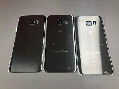 OEM Back Glass Door For Samsung Galaxy S7 edge SM-G935 with Frame Lens Silver A