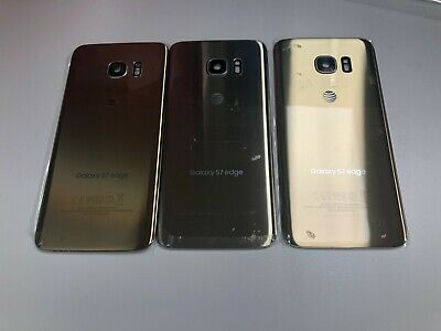 OEM Back Glass Door For Samsung Galaxy S7 edge SM-G935 with Frame Lens Gold A