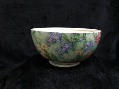 Vintage Empire Porcelain Company, LILAC TIME Chintz, Open Sugar Bowl - HTF