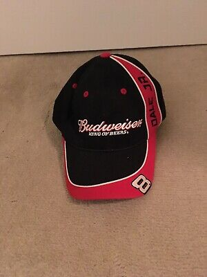 f9a636a5084 Budweiser King of Beers  8 Dale Earnhardt Jr hat Baseball cap Red soft  NASCAR