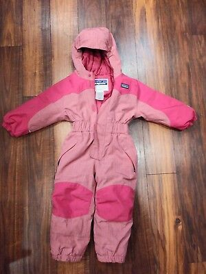 1515ab2f4 Patagonia Snow Pile One-piece Snowsuit 18 Month/18M- 3T Pink Girls Toddler